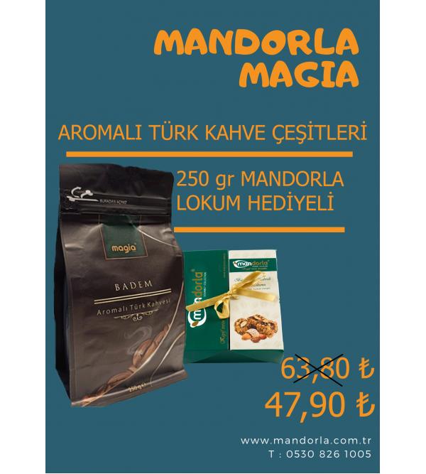 Mandorla Magia Aromalı  Türk Kahvesi + 250 gr Ma...