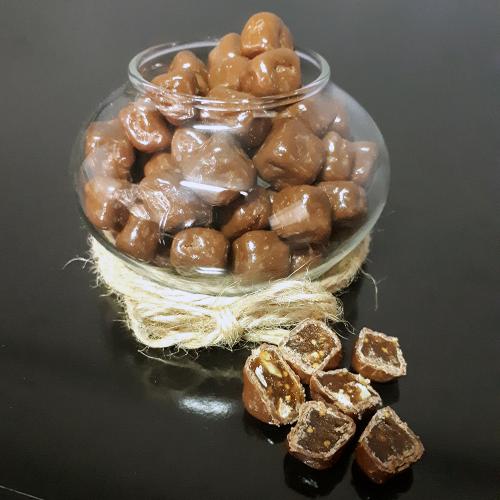 Çikolata Kaplı  İncir ve Cevizli  Aromalı Lokum